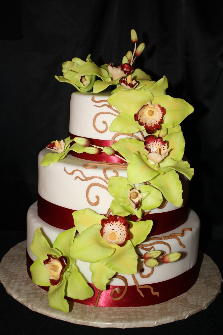Green Orchid Cake on Cake Central