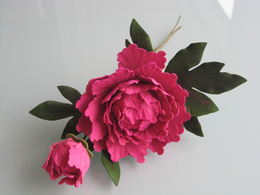 Peony From Nicholas Lodge Class on Cake Central