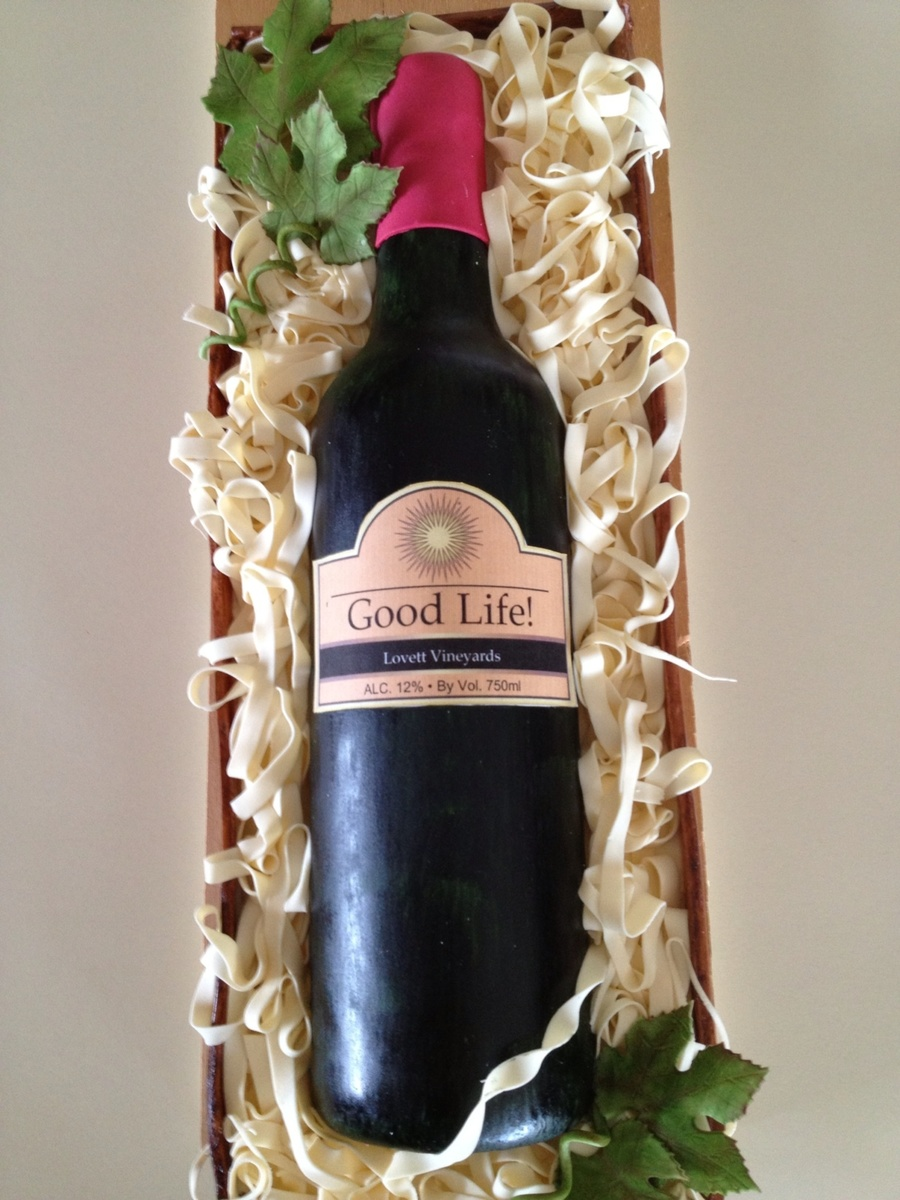 Cake Decorating Wine Bottles : Wine Bottle Cake - CakeCentral.com