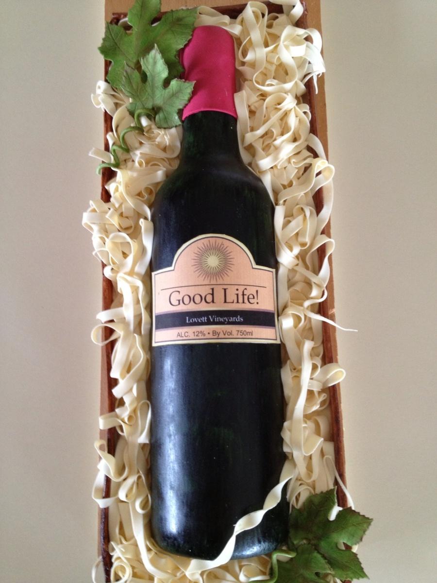 Decorating A Wine Bottle Cake