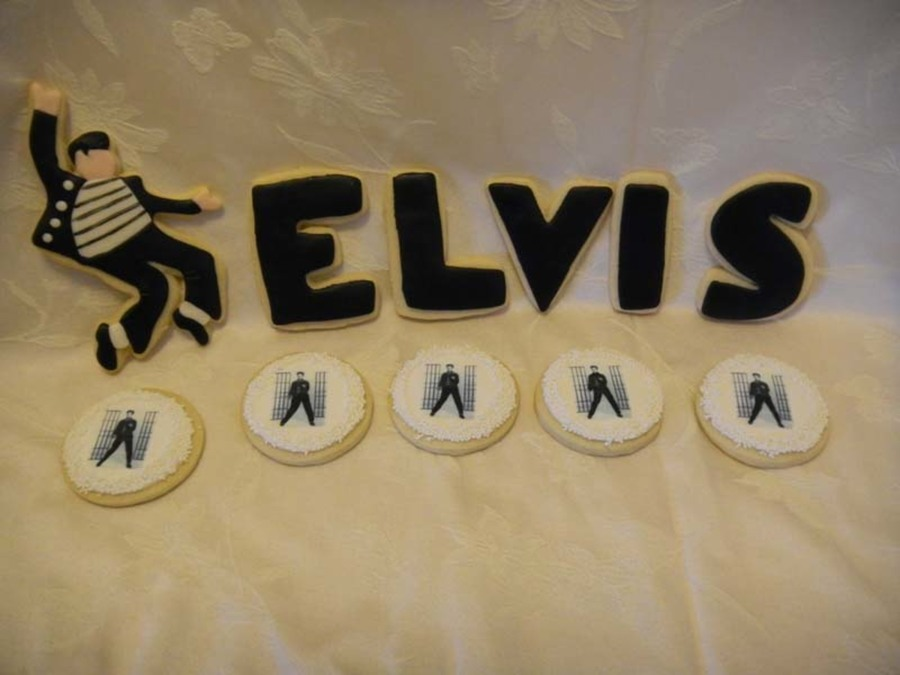 Elvis Anniversary Cookies on Cake Central