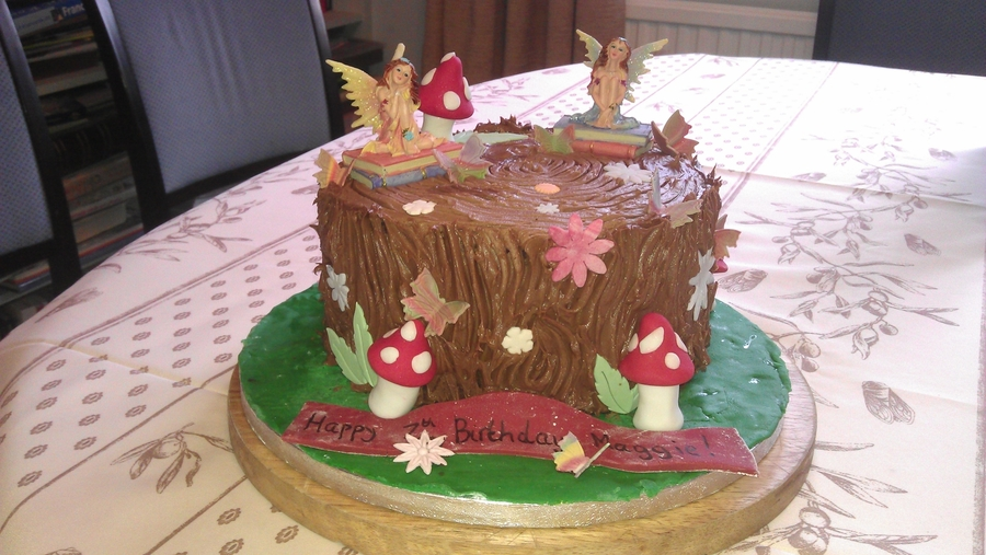Fairy Woodland Chocolate Cake on Cake Central