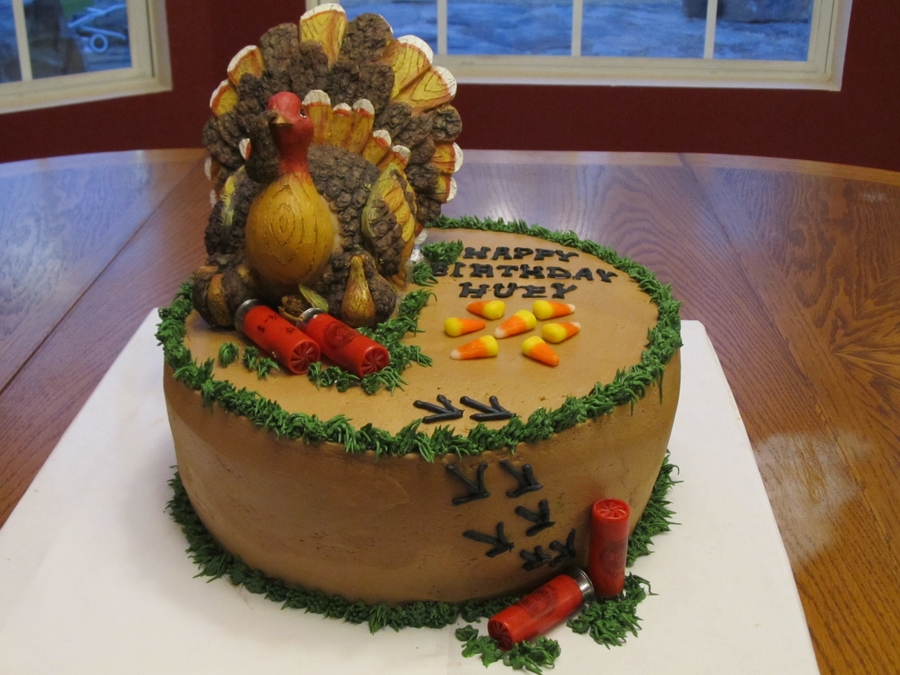 Turkey Hunting Cake With Shotgun Shells on Cake Central