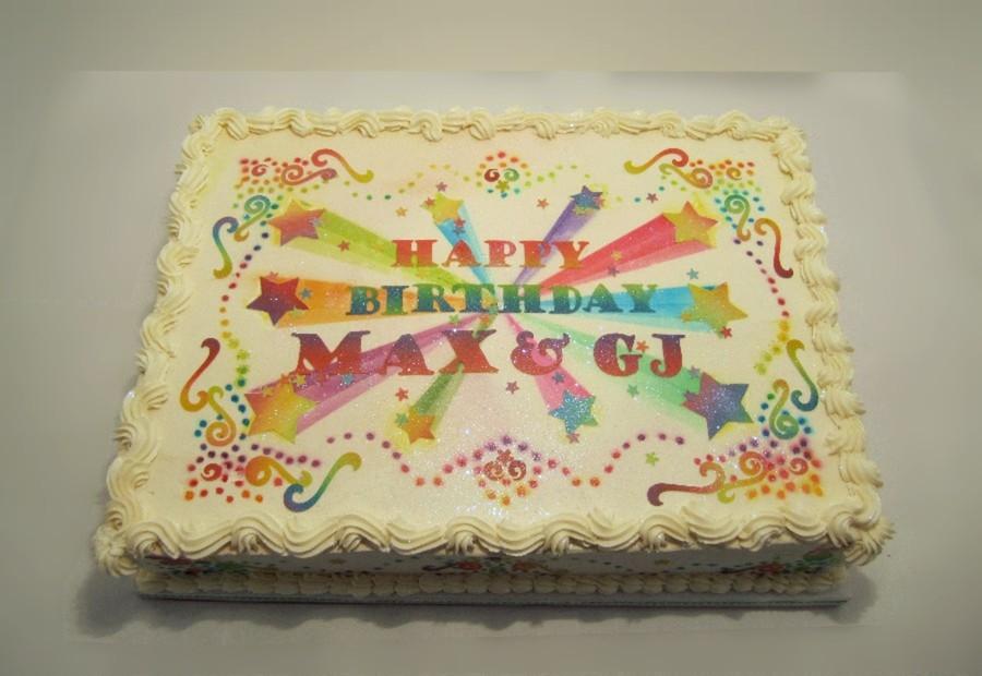 Double Celebration Birthday Cake CakeCentralcom