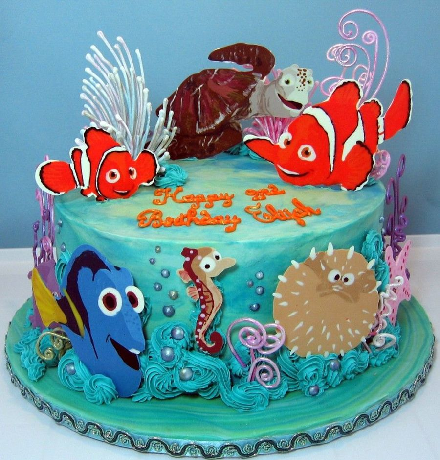 nemo cake template - nemo themed birthday cake