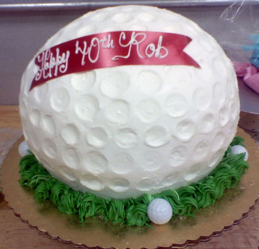 Golf Ball on Cake Central
