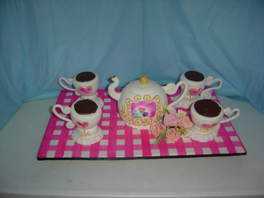 Pink Tea Pot  on Cake Central