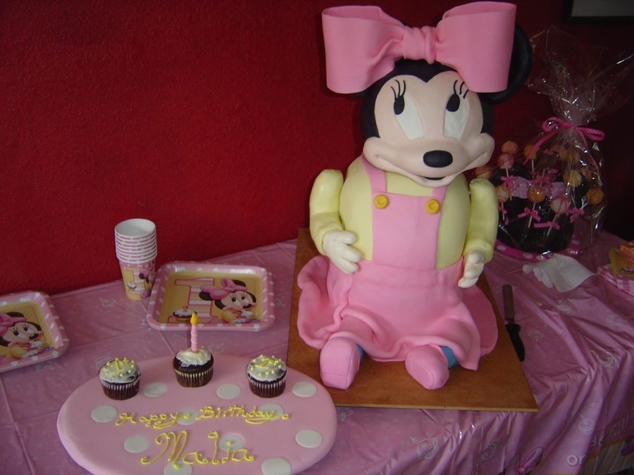 Baby Minnie Mouse Cake on Cake Central