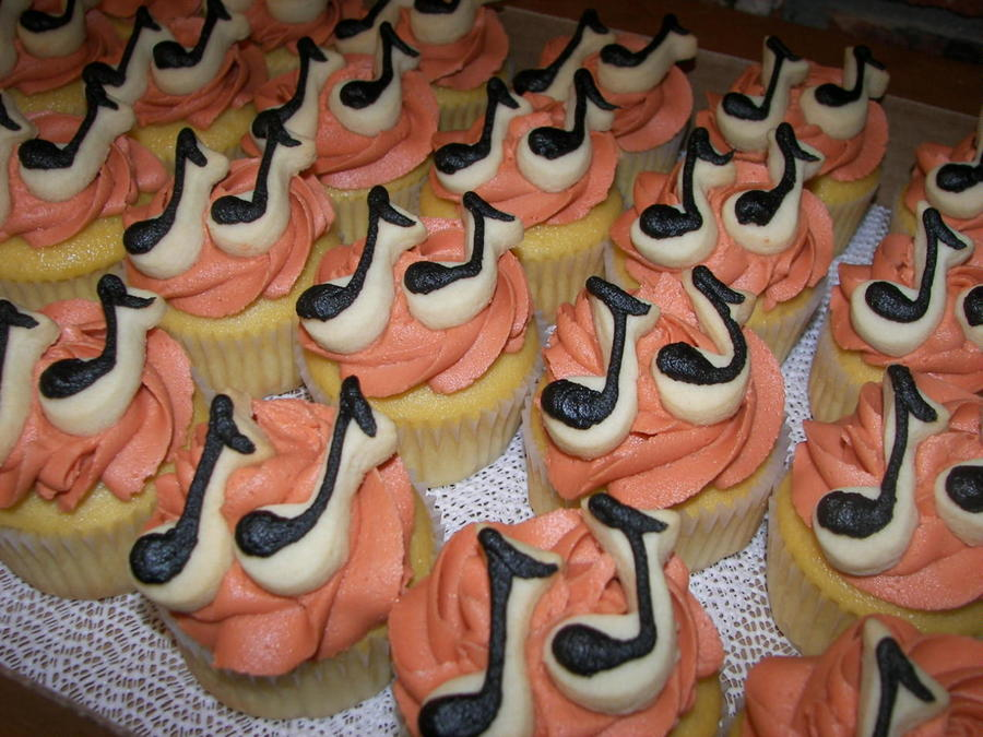 Mini Musical Note Cookie Cupcakes on Cake Central