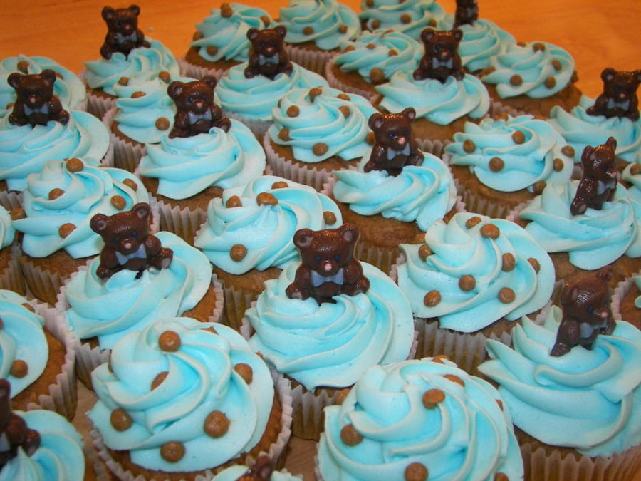 Teddy Bear Baby Shower Cupcakes on Cake Central