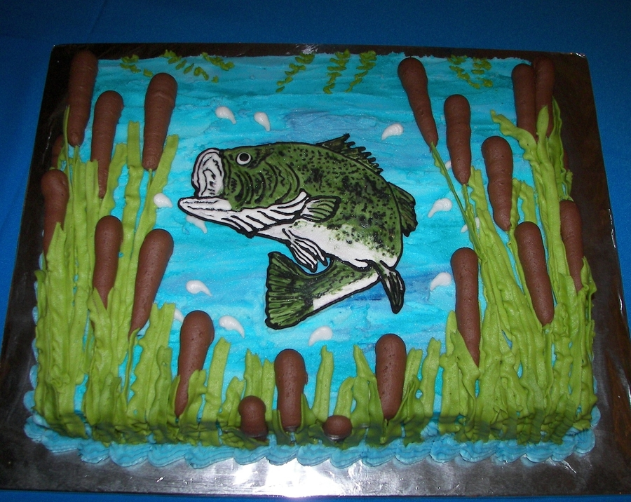 Bass Groom's Cake on Cake Central
