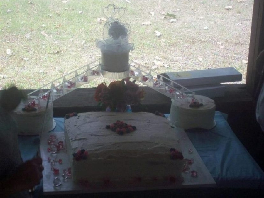 Last Minute Wedding Cake on Cake Central