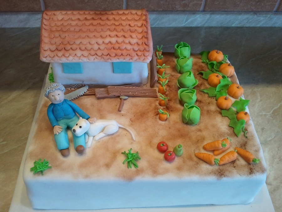 Garden With House on Cake Central