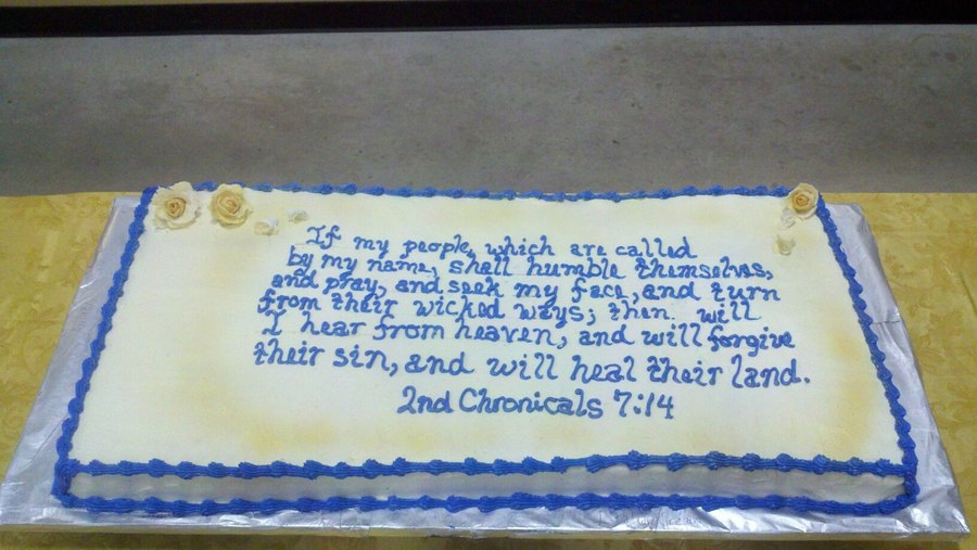 2Nd Chronicals 7:14 on Cake Central