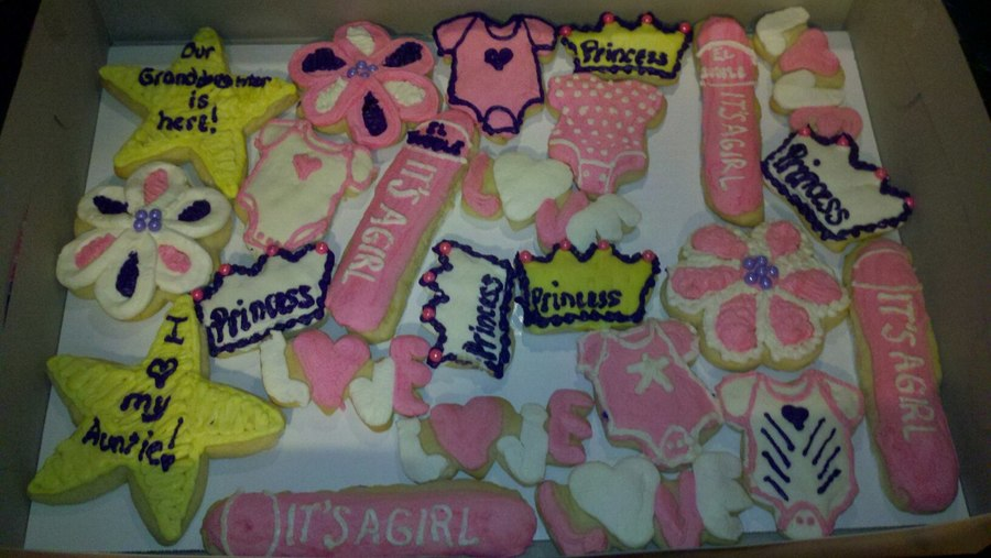Baby Shower Girl Cookies on Cake Central