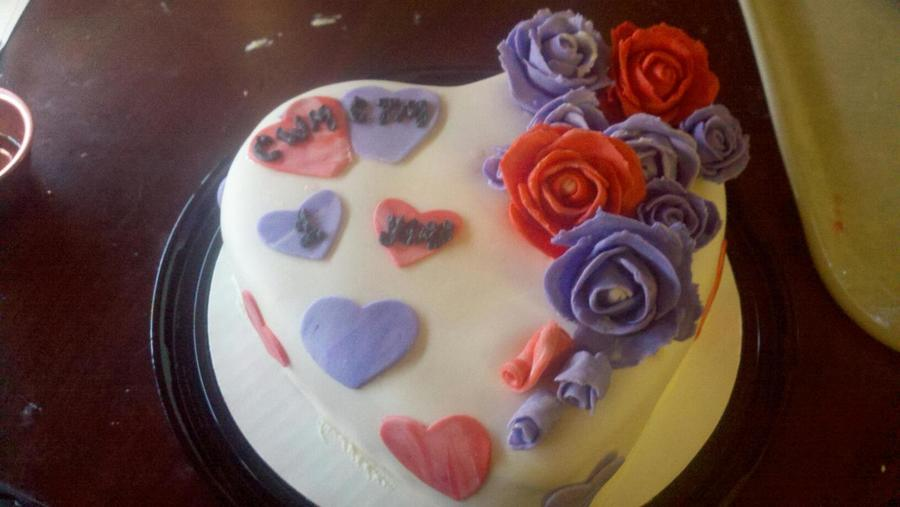 Chris And Taneal's 1St Dating Anniversary Cake on Cake Central