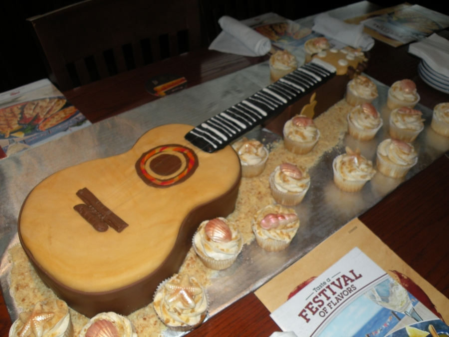 Retirement Guitar Cake on Cake Central