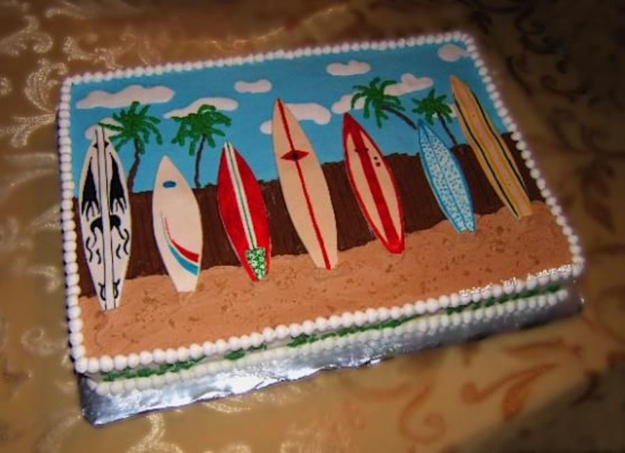 Surf Theme Birthday Cake