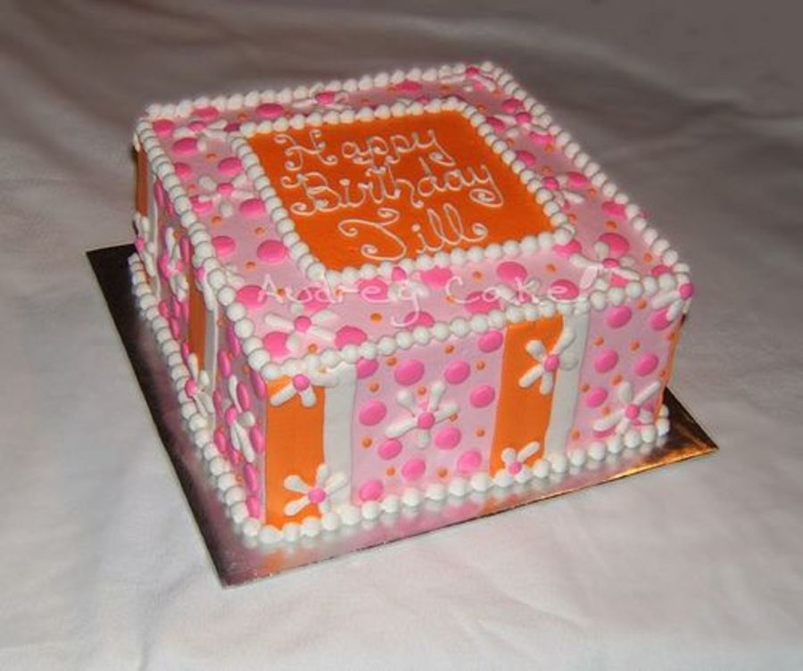 Pink Orange & White Cake on Cake Central