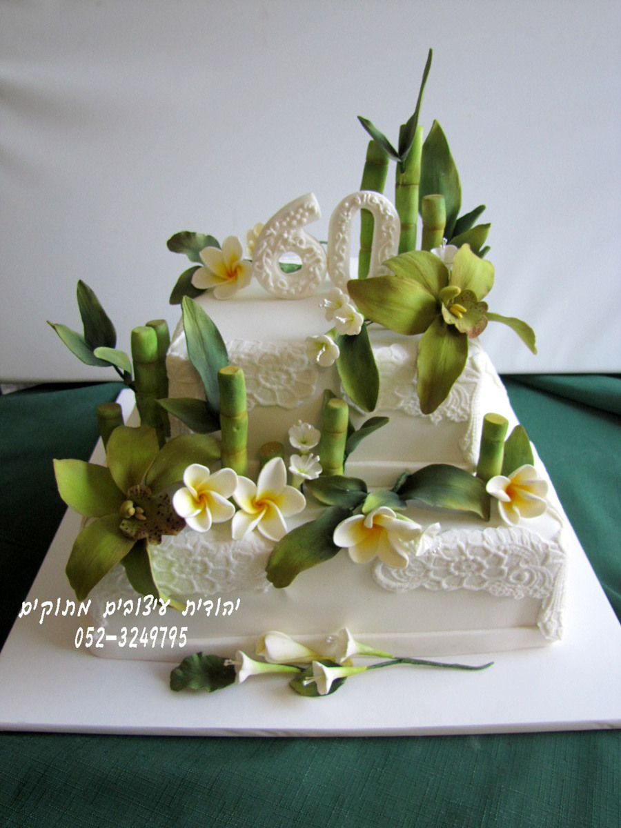 Th Birthday Orchid Cake