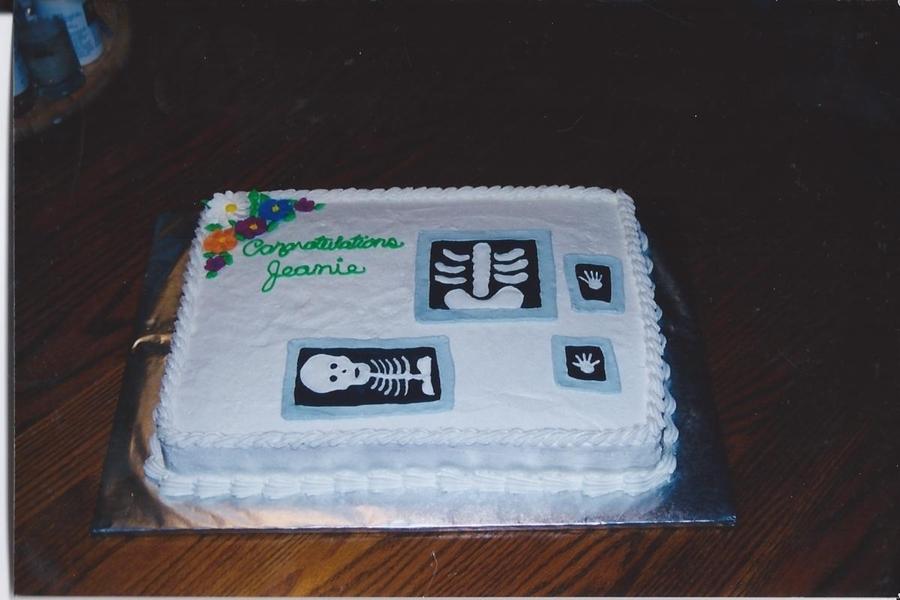 Xray Tech Graduation Cake CakeCentralcom