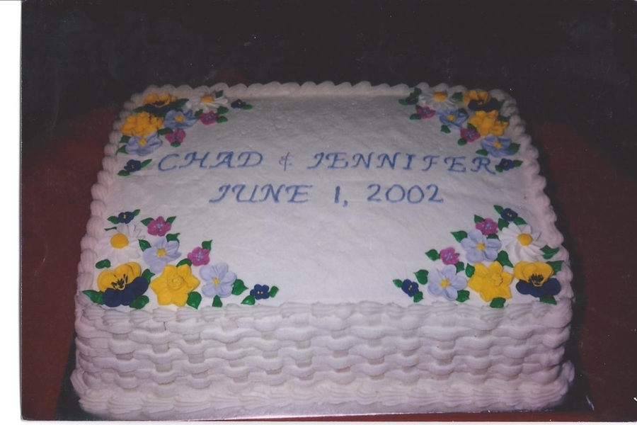 Chad And Jennifer's Cake For Rehearsal..2002 on Cake Central