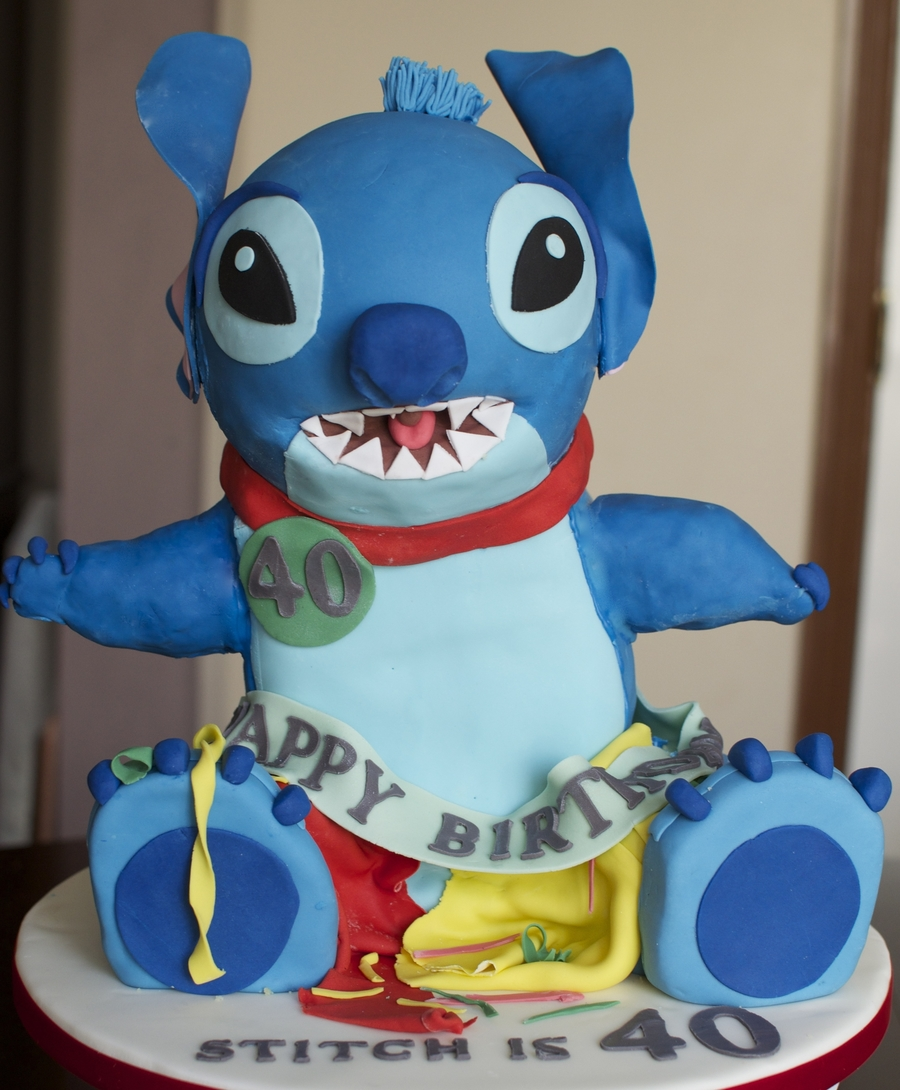 Stitch 40Th Birthday Cake on Cake Central