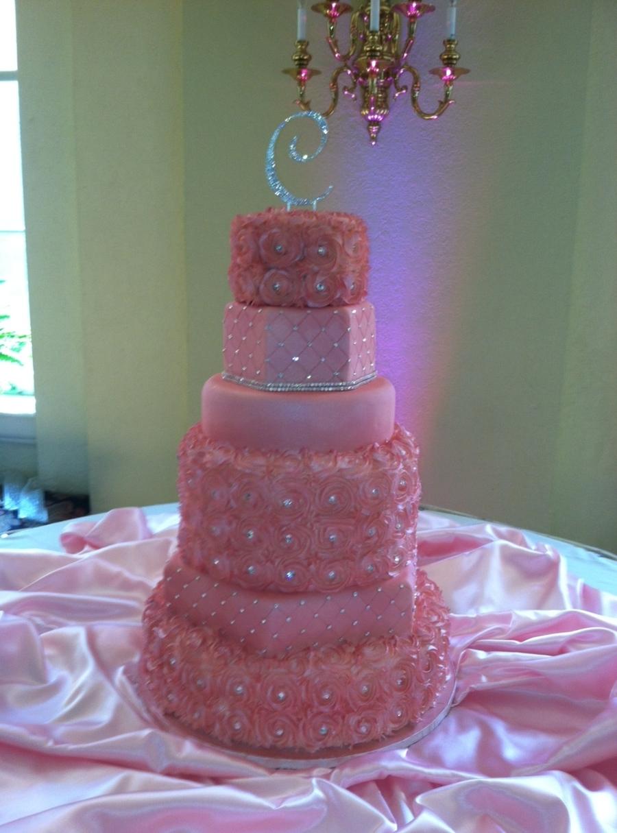 Pink Sparkle Roses Cakecentral Com