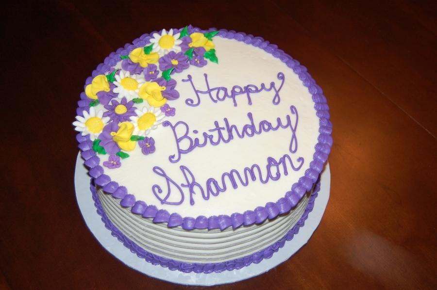 Purple And Yellow Birthday Cakes