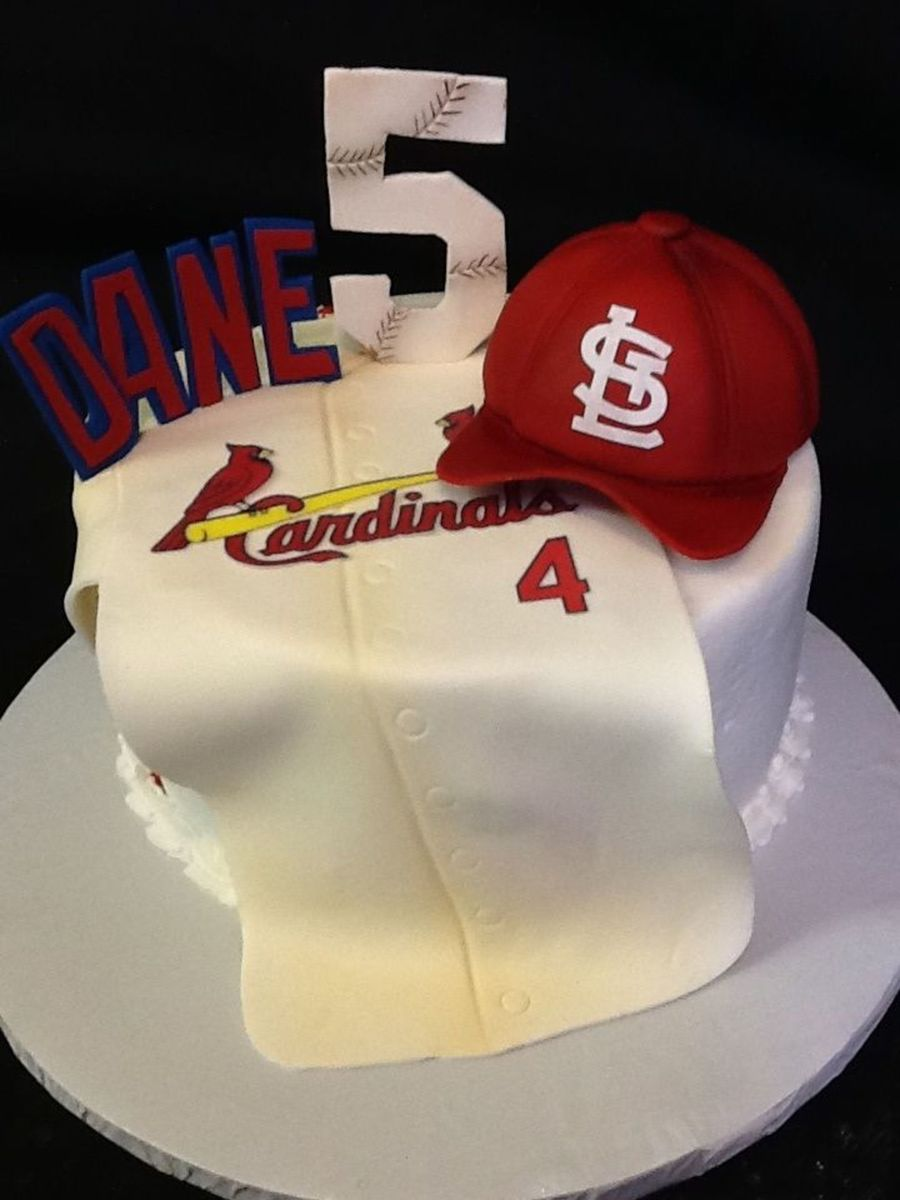 Brilliant St Louis Cardinals Cakecentral Com Funny Birthday Cards Online Fluifree Goldxyz