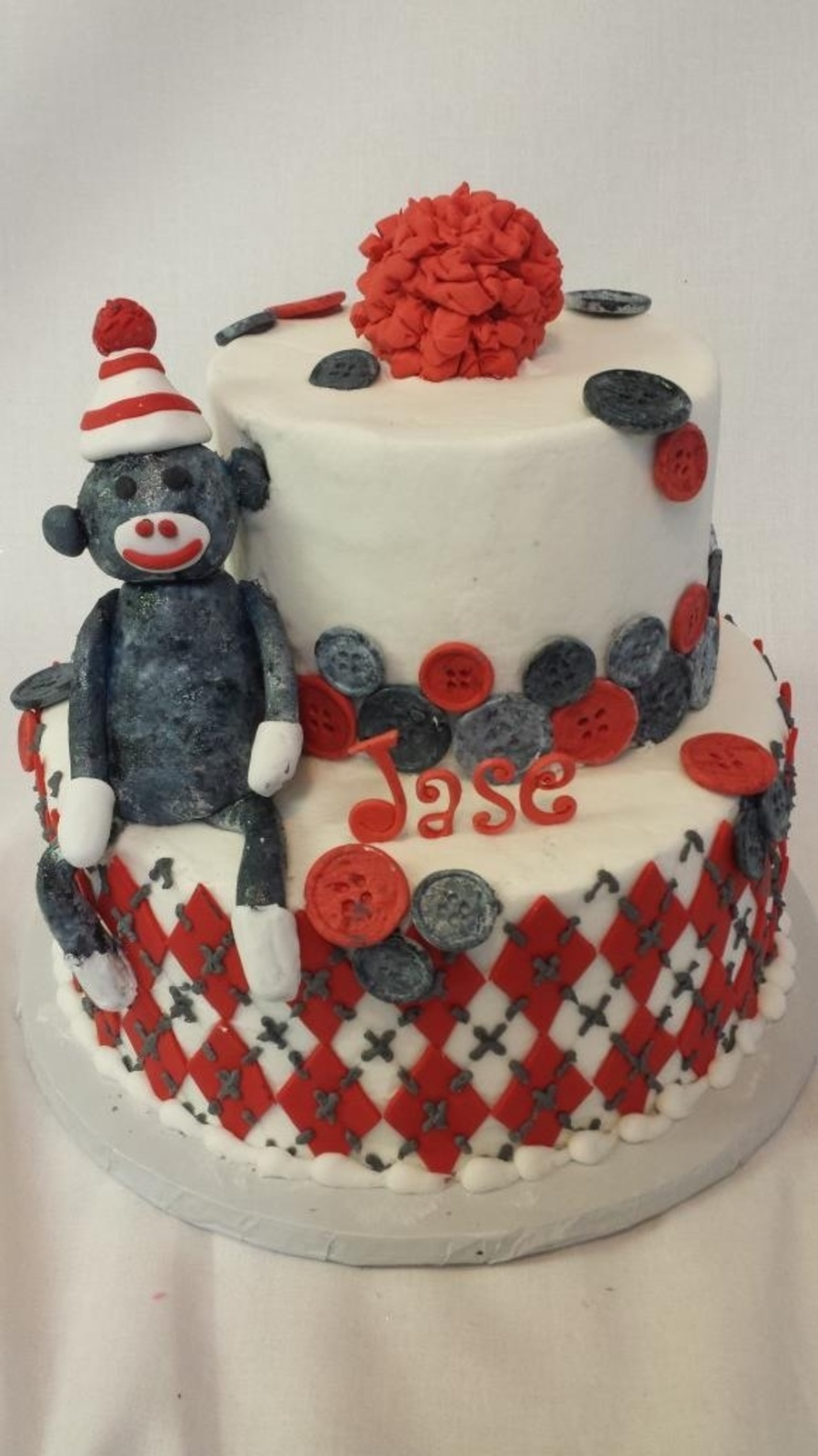 Sock Monkey  on Cake Central