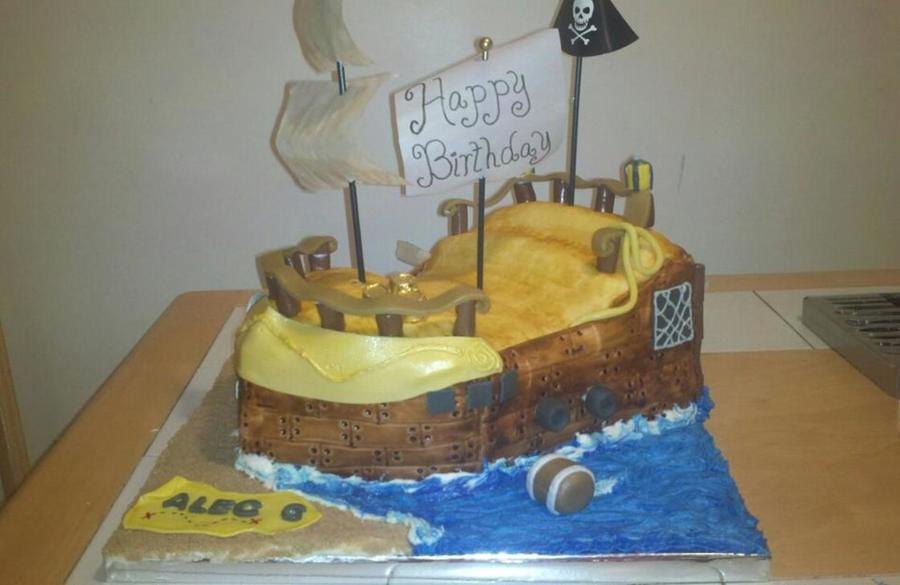 Pirate Ship Cake Boys Birthday on Cake Central