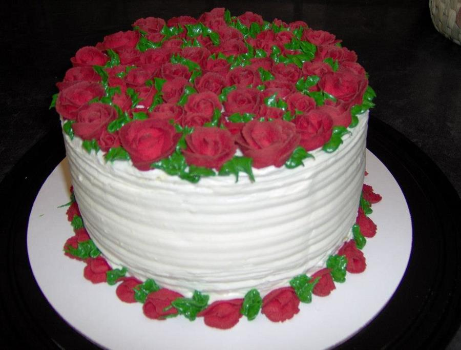 Red Roses 7 Sugar Free Cake With Air Dried Buttercream Roses on Cake Central