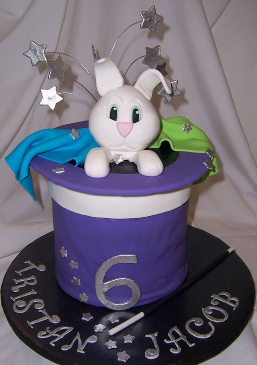 Rabbit In A Hat Cake on Cake Central