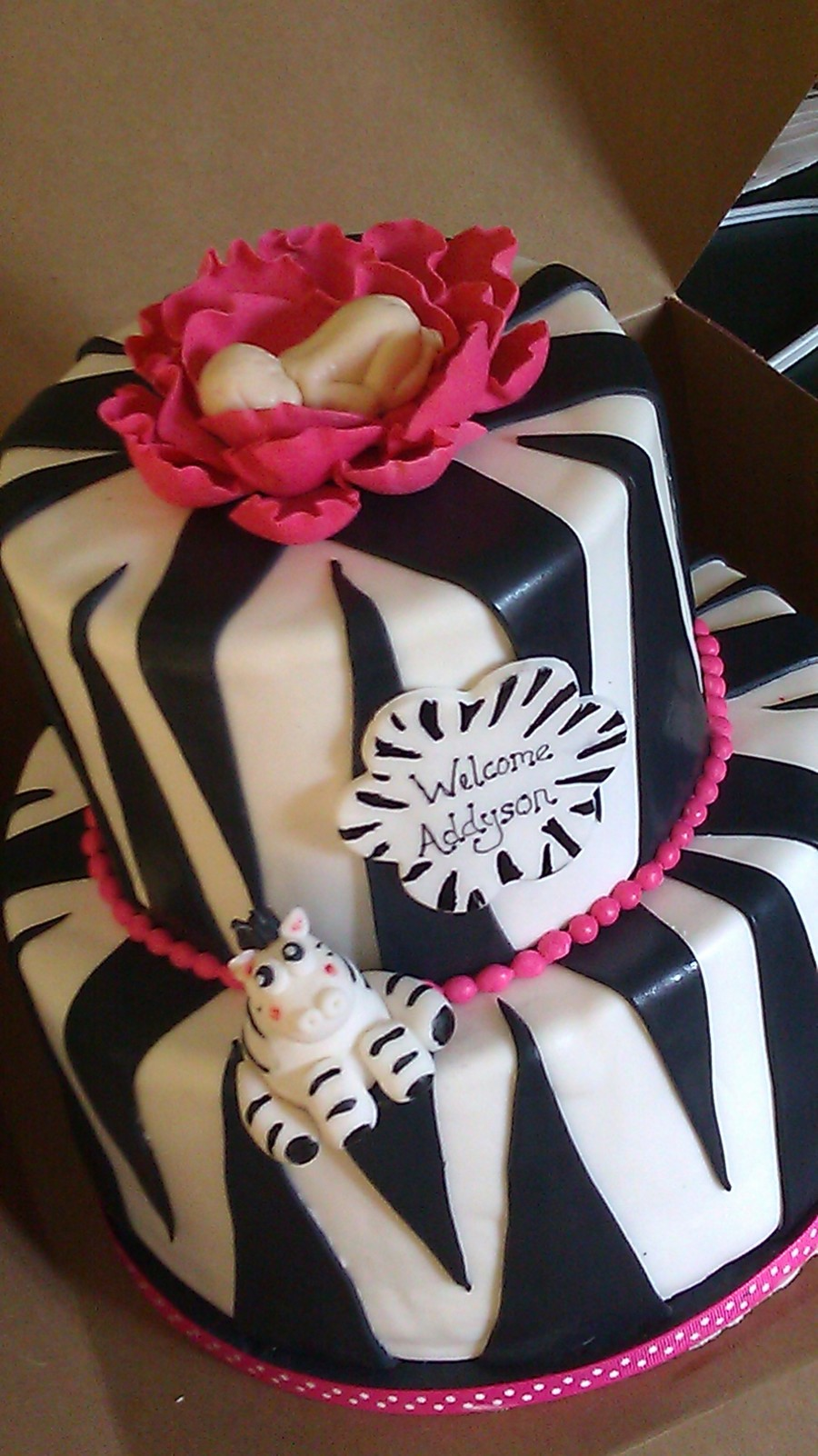 Zebra Baby Shower on Cake Central