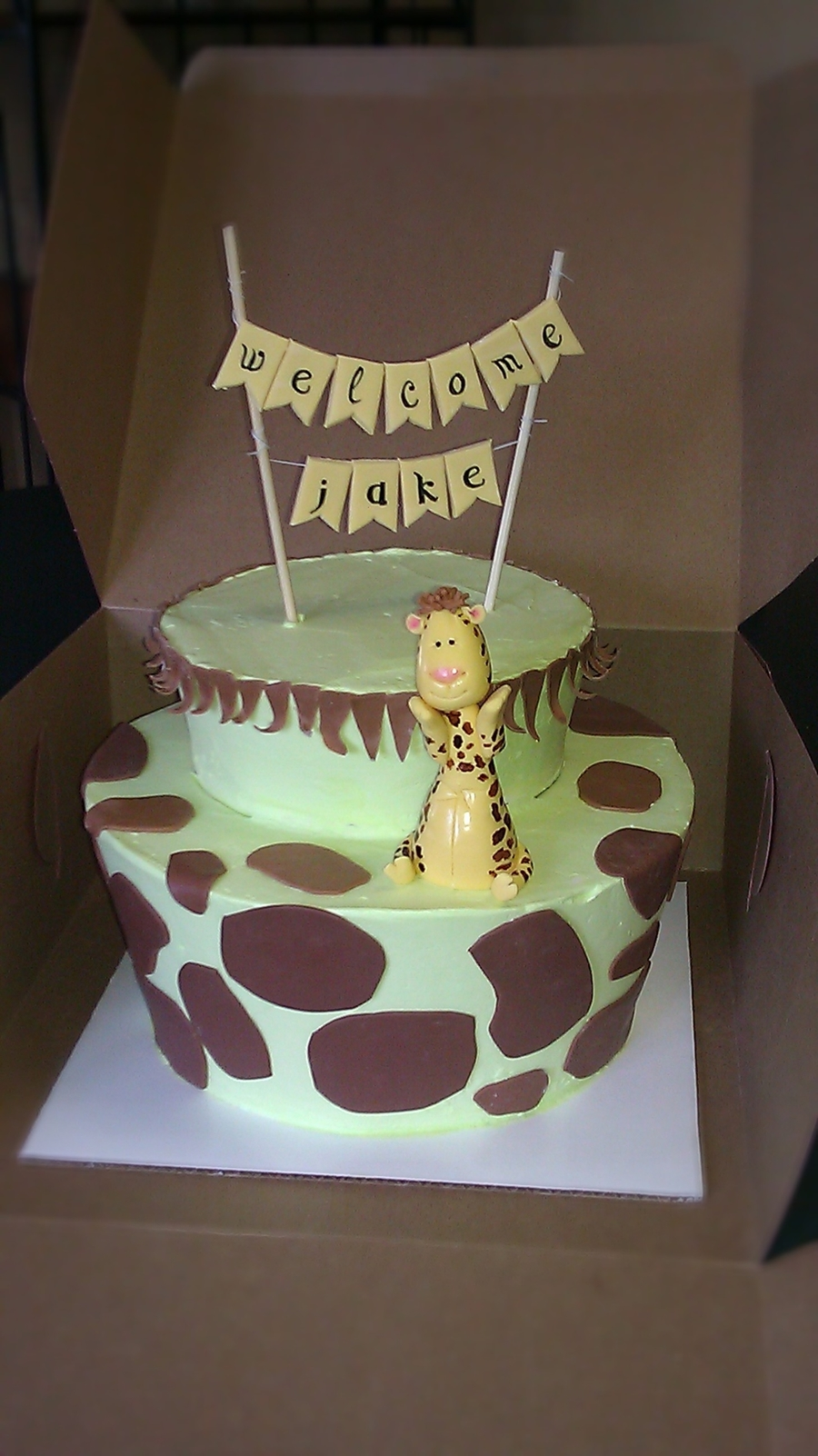 Giraffe Baby Shower on Cake Central