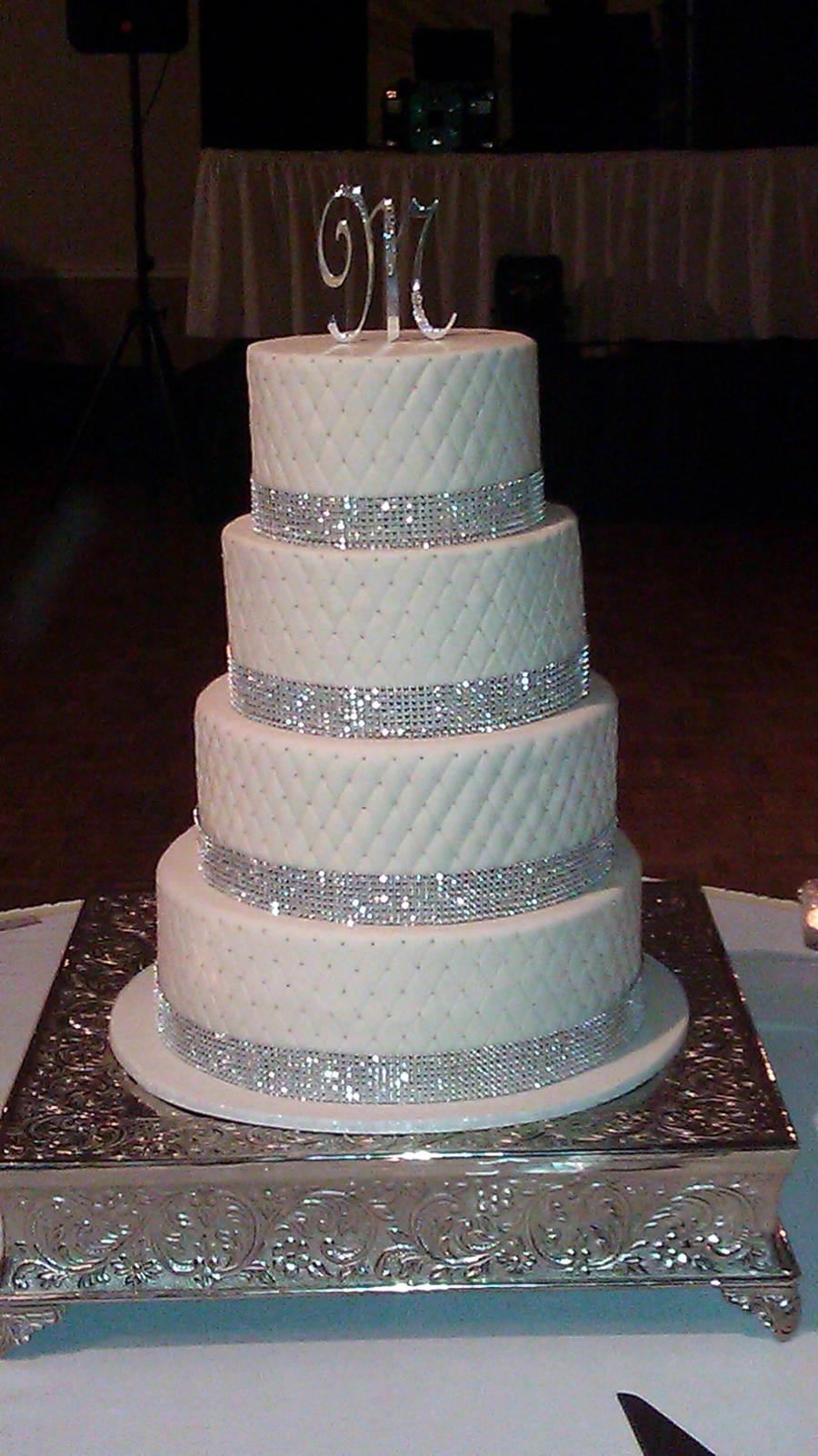 Blingy Wedding Cake on Cake Central
