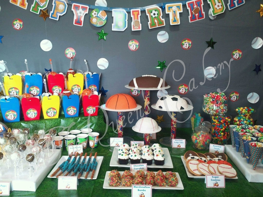Sports Dessert Table on Cake Central