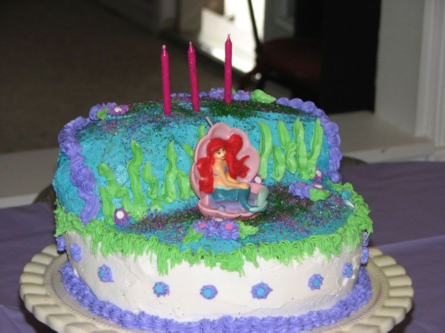 Little Mermaid Cake - CakeCentral.com