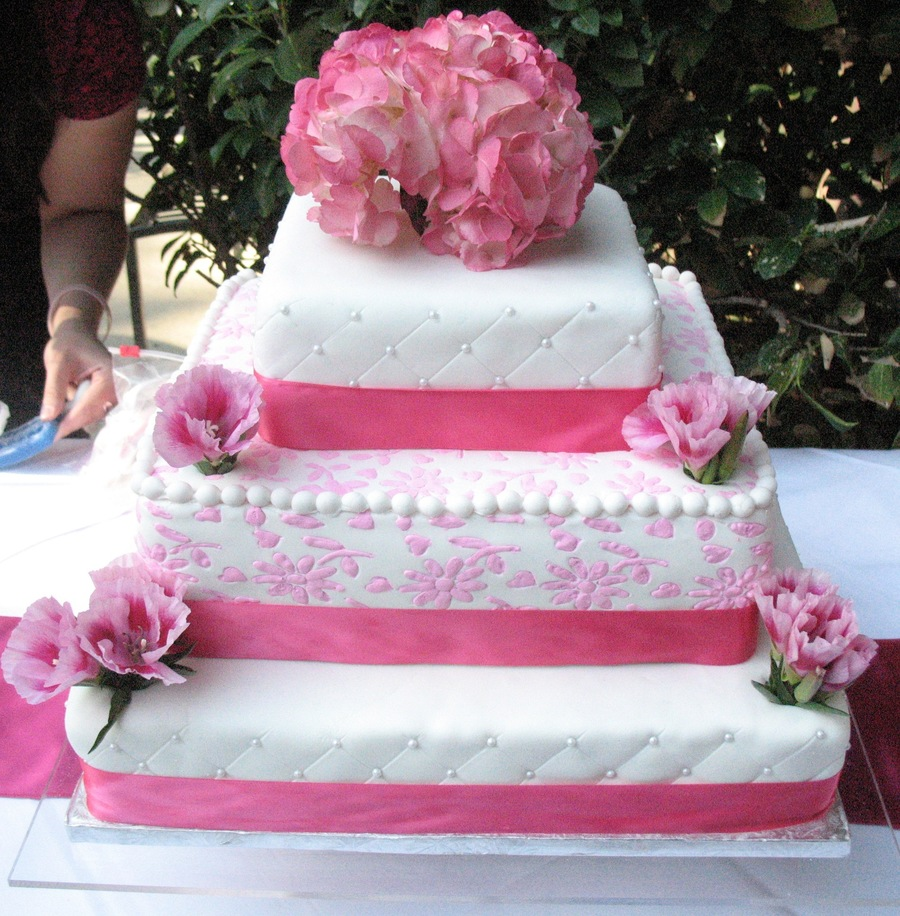 wedding cake roses pink pink flowers wedding cake cakecentral 23713