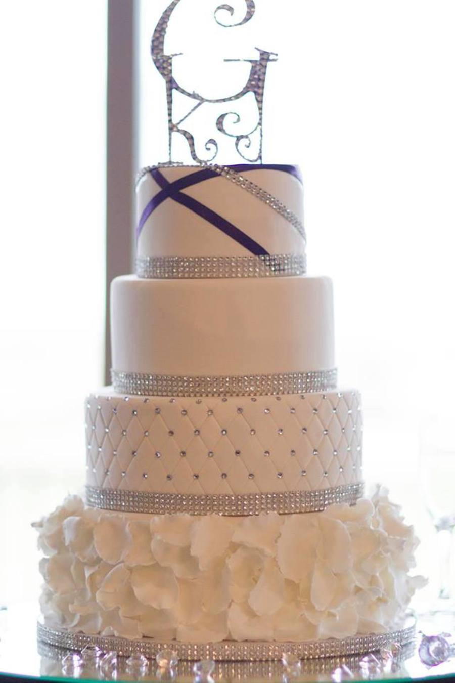 Blinged Out Wedding Cake - CakeCentral.com