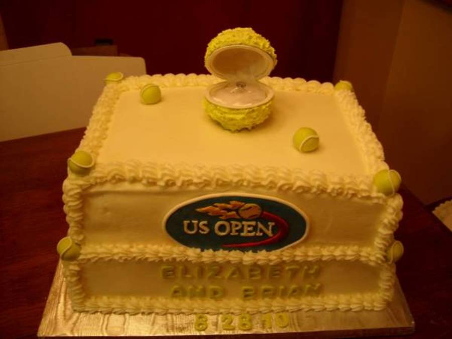 Us Open Engagement Cake on Cake Central