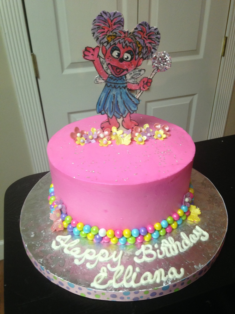 Abby Cadabby Birthday Cake For A 2 Year Old Vanilla Cake With