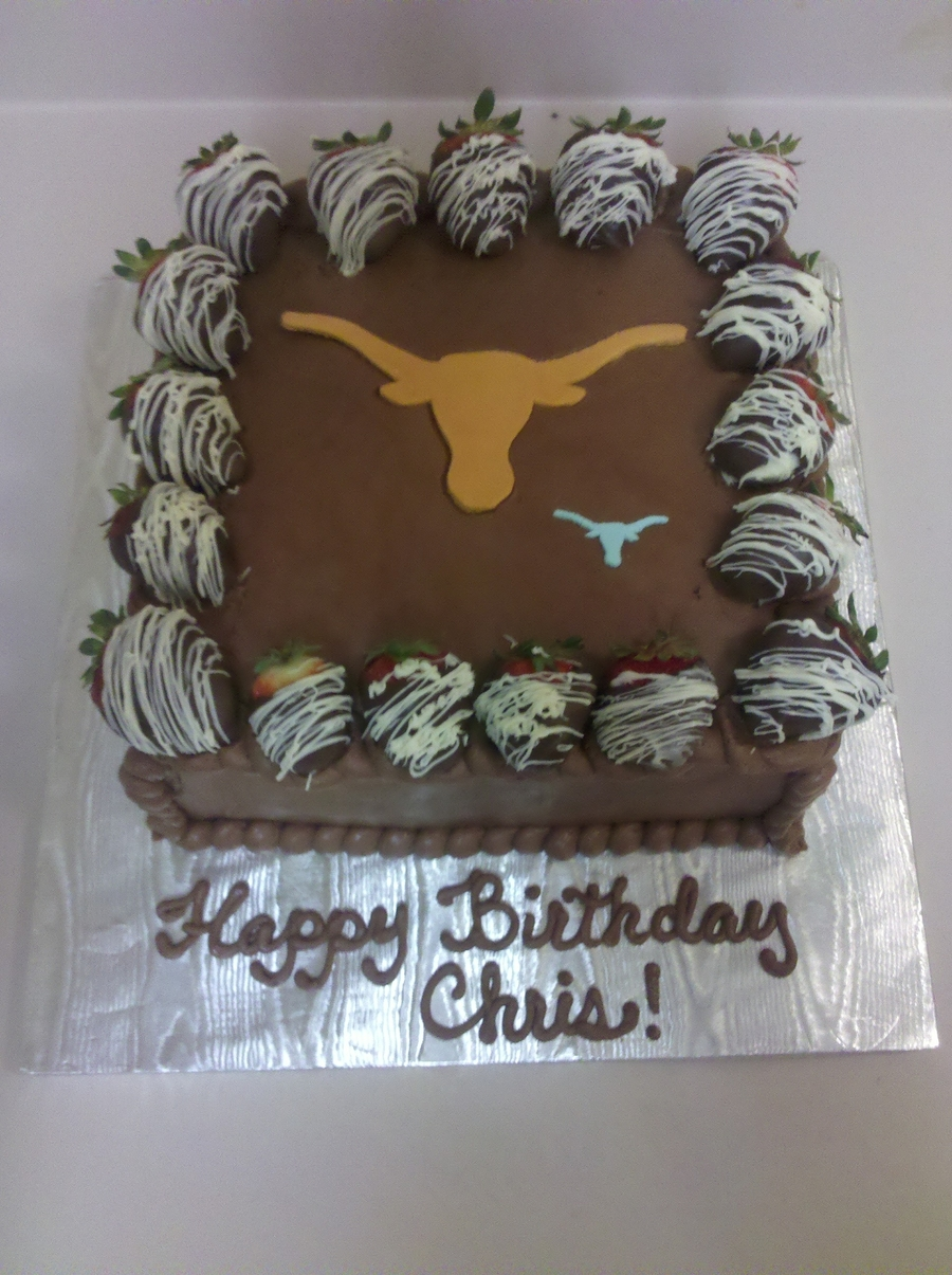 Ut Birthday Cake on Cake Central