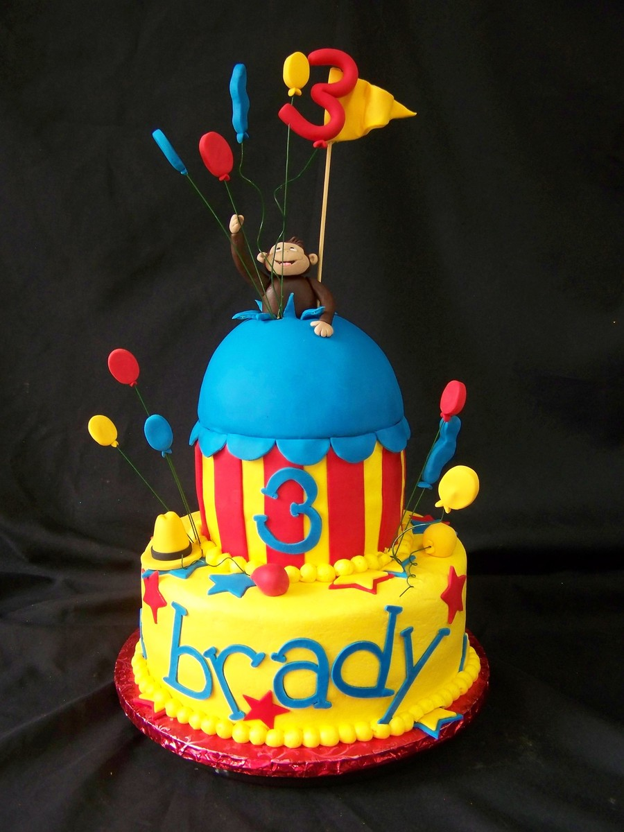 Brady's Curious George Birthday  on Cake Central