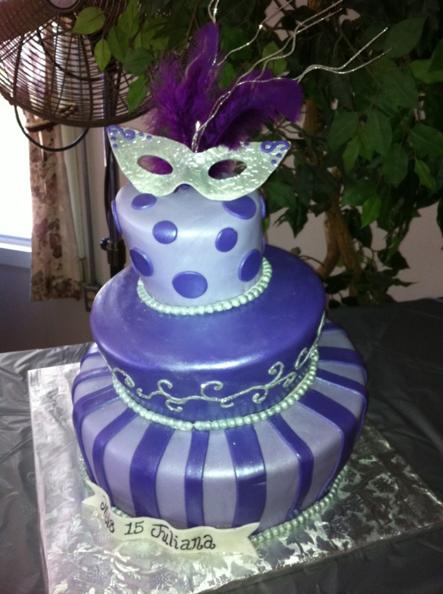 Purple Quince Topsy Turvy on Cake Central