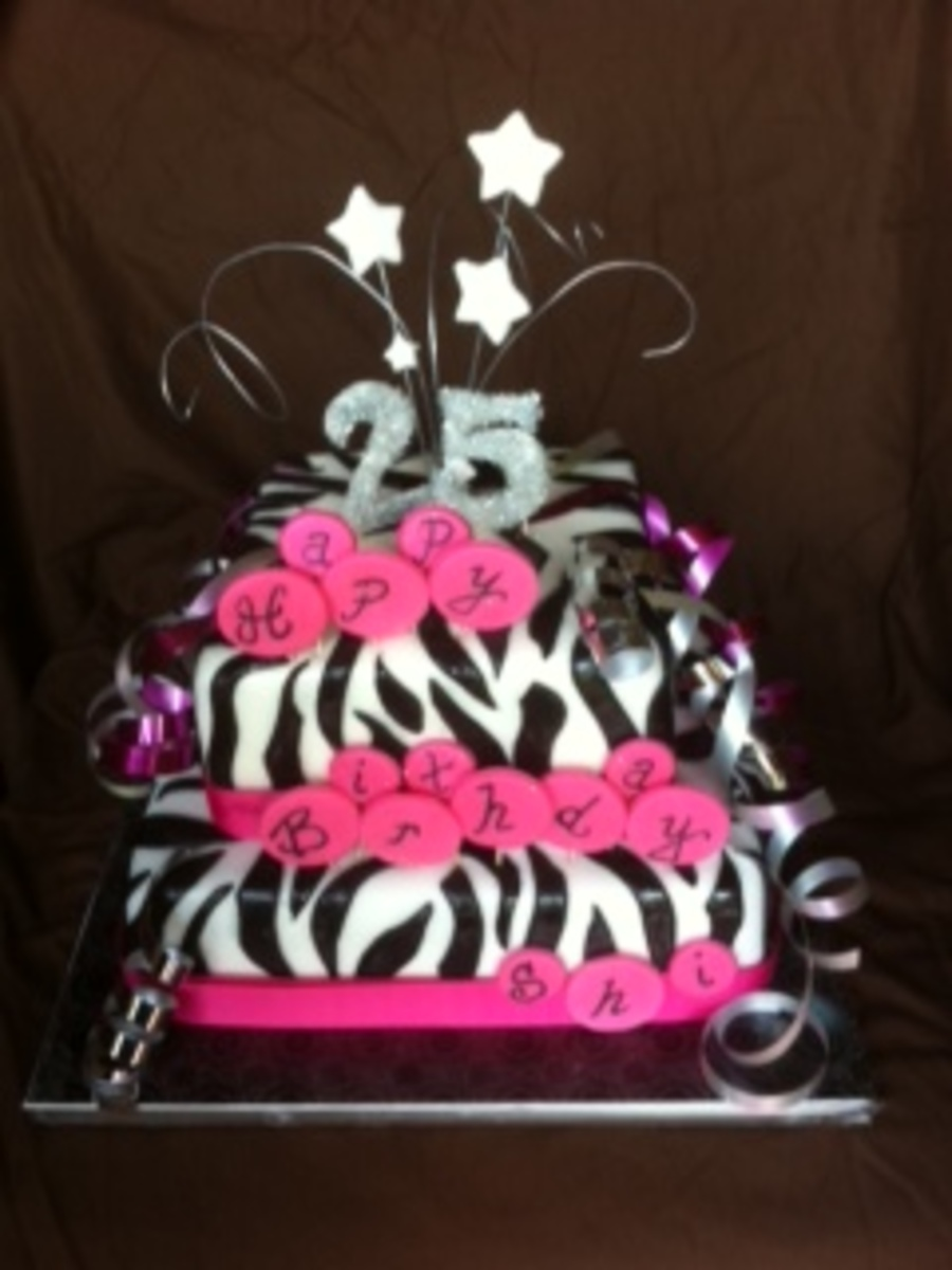 Zebra 25Th on Cake Central