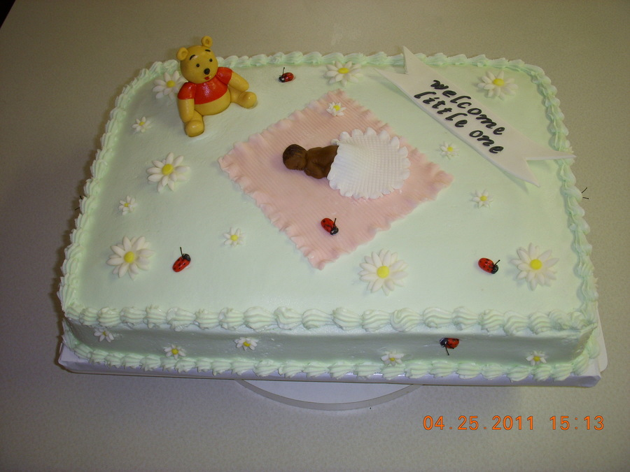 Winnie The Pooh Baby Shower Cake on Cake Central