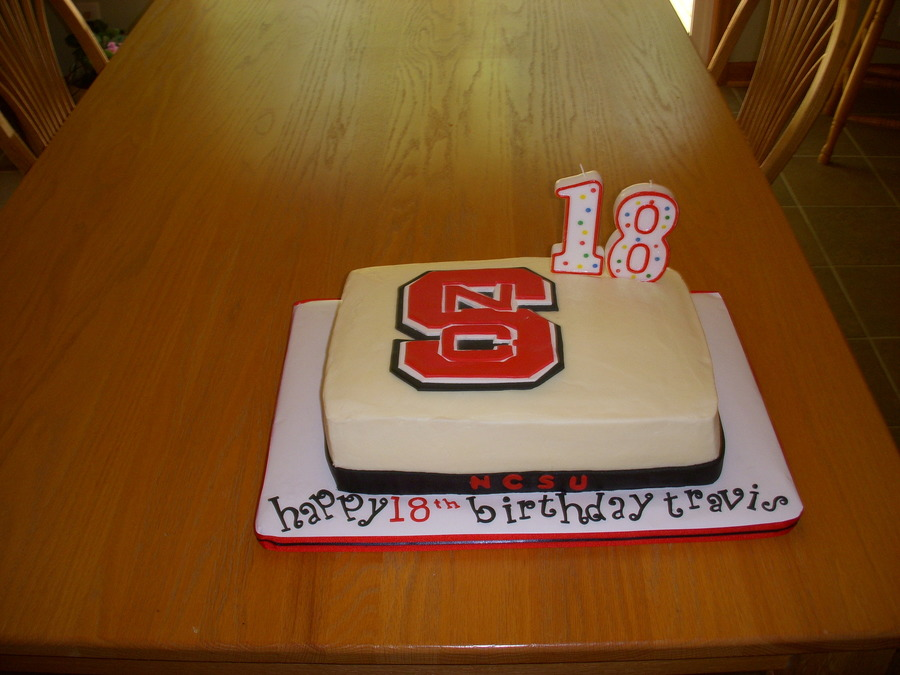 This Was My Grandson S 18 Birthday Cake He Will Be Going To Ncstate We Are Very Proud Of Him Buttercream Icing With Fondant Gp Decos on Cake Central