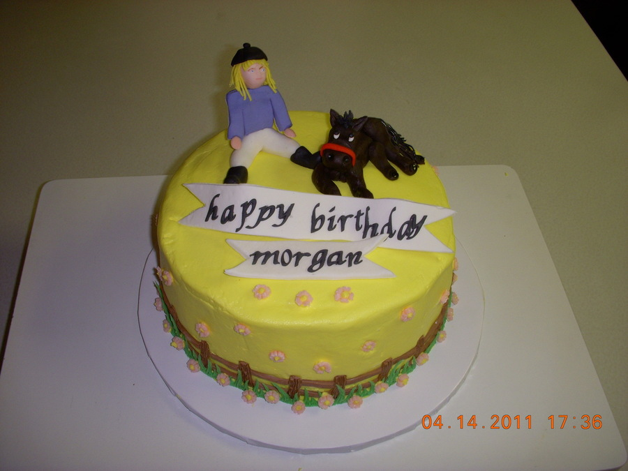Girl With Her Horse on Cake Central